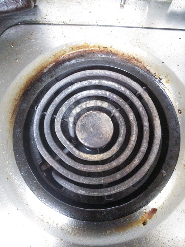 1年以上放置のガスコンロの掃除に重曹使ってみた結果のBefore After