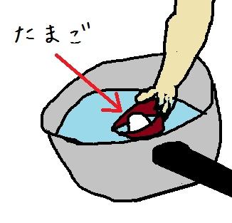 ゆで卵作成3