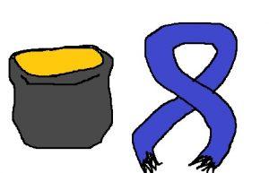 マフラー vs ネックウォーマー